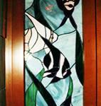 Tiffany üveg készítése bútorba