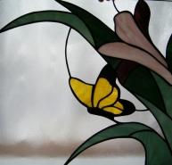 sárga üveg pillangó