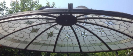 tiffany üveg kupola